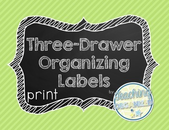 Chalkboard Three Drawer Organizing Labels - Print