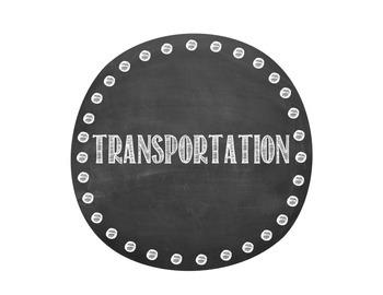 Chalkboard Transportation Display