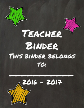 Chalkboard Ultimate Teacher Binder
