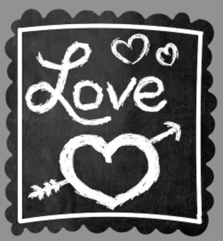 Chalkboard Valentine Clip Art - Whimsy Workshop Teaching