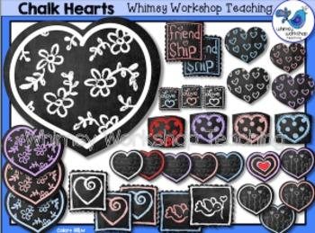 Chalkboard Valentine Clip Art - Whimsy Workshop Teaching