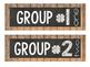 Chalkboard Vintage Wood Group Labels
