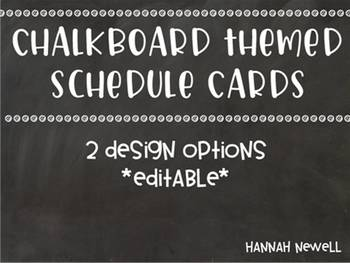 Chalkboard Visual Schedule - Editable