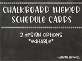 Chalkboard Visual Schedule - Editable