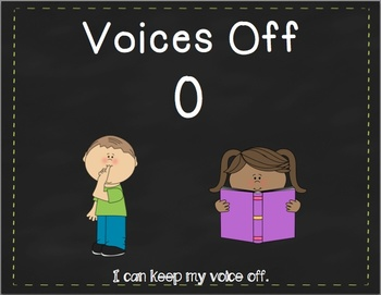 Chalkboard Voice Levels Clip Chart