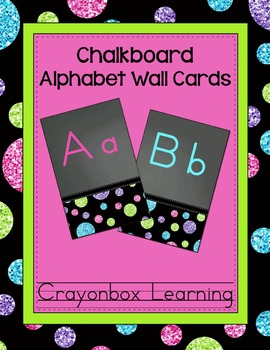 Chalkboard Wall Alphabet Cards (26)