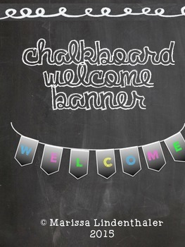 Chalkboard Welcome Banner