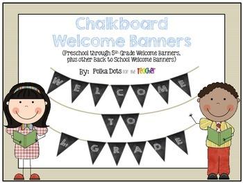 Chalkboard Welcome Banners