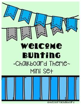 Chalkboard Welcome Bunting