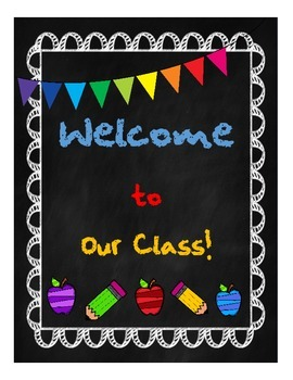 Chalkboard Welcome Poster