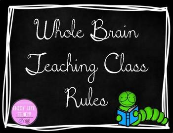 Chalkboard Whole Brain Teaching Class Rules