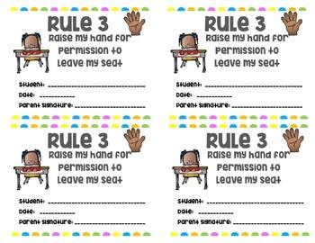 Chalkboard Whole Brain Teaching Rules