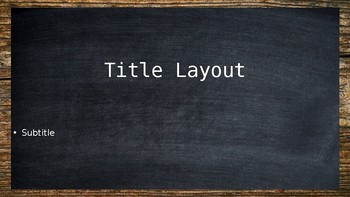 Chalkboard & Wood PowerPoint Template