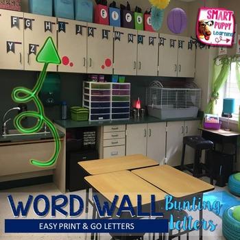 Chalkboard Word Wall Bunting