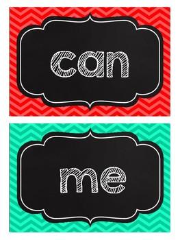 Chalkboard Word Wall Cards