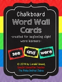 Chalkboard Word Wall Cards