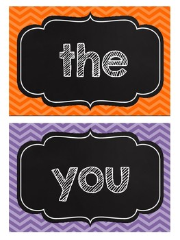 Chalkboard Word Wall Cards Freebie