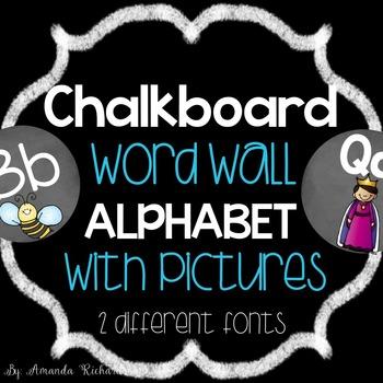 Chalkboard Word Wall Alphabet