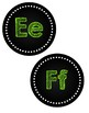 Chalkboard Word Wall Headers Circles