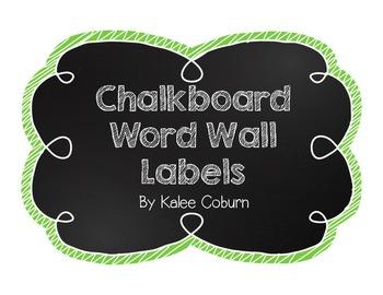 Chalkboard Word Wall Labels