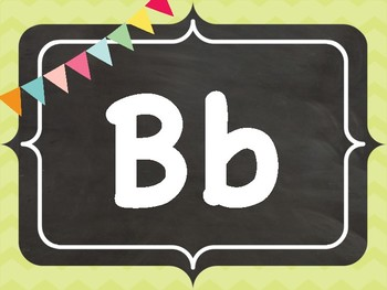 Chalkboard Word Wall Letter Cards