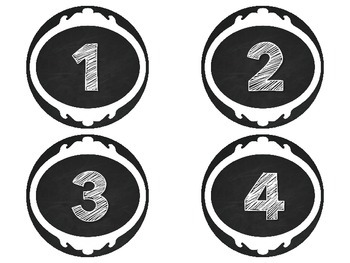 Chalkboard Word Wall Letters and Numbers 1-120