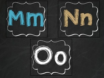 Chalkboard Word Wall Letters and Numbers 1-120 with Teal and Burlap
