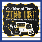 Chalkboard Word Wall | Memory Game | Flash Cards Set