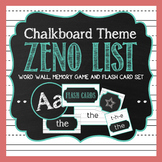 Chalkboard Word Wall | Memory Game | Flash Cards Set | Teal