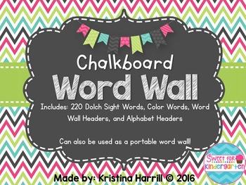 Chalkboard Word Wall