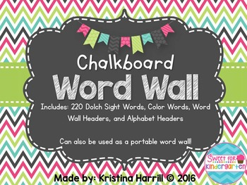 Chalkboard Word Wall {Portable}