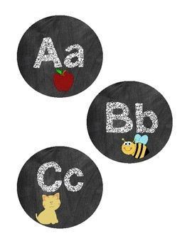 Chalkboard Word Wall Word Headers