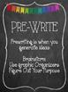 Chalkboard Writing Process Posters