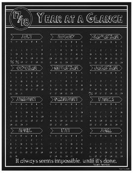 Chalkboard Year at a Glance