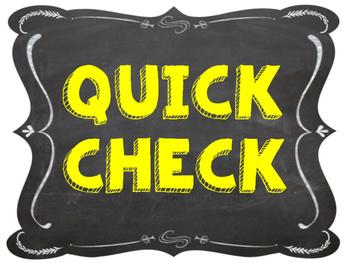 Chalkboard & Yellow Quick Check