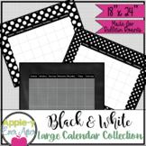 Black and White Polka Dot Large Bulletin Board Wall Calend