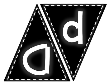 Chalkboard alphabet Pennant Banner