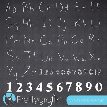 Chalkboard alphabet clipart commercial use, vector graphic