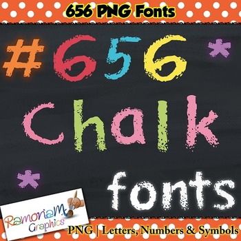 Chalkboard alphabet clip art