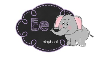 Chalkboard alphabet posters and matching word wall cards- bundle pack