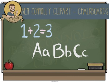 Chalkboard and Alphabet Mega Clip Art Set