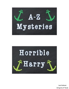 Chalkboard and Anchor Book Bin Labels