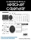 Chalkboard and Arrows Teacher Calendar