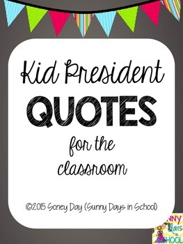 Chalkboard and BRIGHT bunting Inspirational Quotes