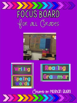 Chalkboard and Bright Colors Focus Board