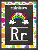 Chalkboard and Bright Dots Alphabet Posters-Classroom Decor