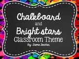 Chalkboard and Bright Stars Classroom Theme- EDITABLE