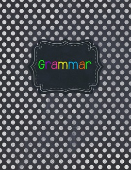 Chalkboard and Brightly Colored Binder Covers and Spines