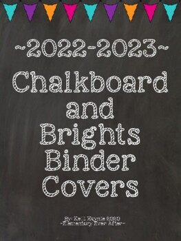 Chalkboard and Brights Binder Covers (2017-2018)