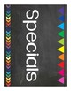 Chalkboard and Brights (Black and Brights) Classroom Decor Pack - Organization